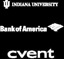 Indiana University, Bank of America, cvent