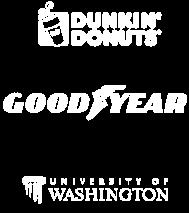 Dunkin' Donuts, GoodYear, University of Washington